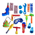 18 pcs/set educational baby plastic toys carpenter tools garden  kit toy tools for boys kids tools carpenter construction