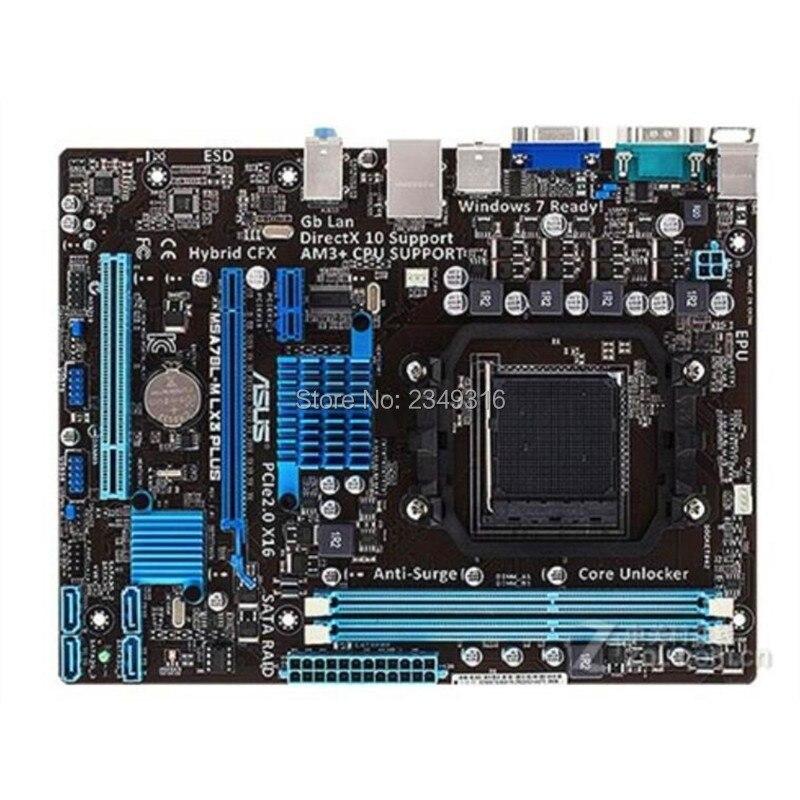 Para Asus M5A78L-M LX3 PLUS Desktop Motherboard 760G 760L Socket AM3 AM3 + DDR3 UEFI BIOS Original Usado mainboard