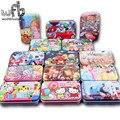 Caixa de ferro de Madeira Enigma 60 Peças/caixa Criança Jigsaw Puzzle Brinquedos Educativos Engraçado Dos Desenhos Animados Padrão Estilos brinquedos de inteligência