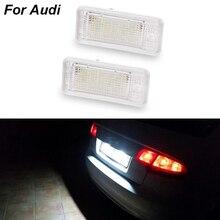 1 пара/2 шт. Автомобильный светодиодный номерной знак, светильник свет 6000 К 3 Вт 18 SMD СВЕТОДИОДНЫЙ номерной знак для Audi A4 A6 C6 A3 B6 B7 S6 A8 Q7