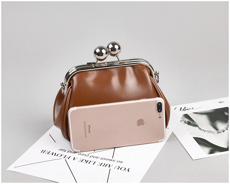 bags women leather shoulder crossbody bag women's handbag kiss lock bag (13)