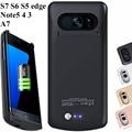 Para samsung s5 s6 s7 edge caso poder 4200 mah externo carregador de bateria de backup caso bateria galaxy note5 4 3 a7 carregador
