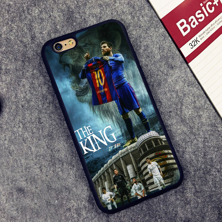 Sport Football Soccer king Star Messi lion Soft Silicone Protective case Cover For iPhone X 8 7 7Plus 6 6S Plus 5 5S SE