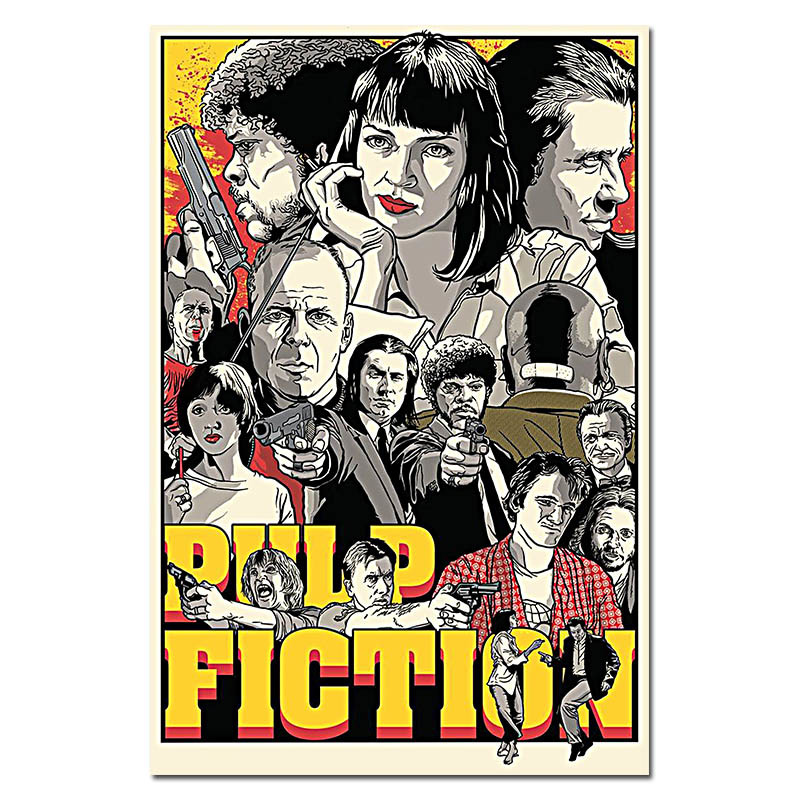 Kill Bill Pulp Fiction Reservoir Dogs Movie Art Silk Fabric Poster Print 13x20 24x36Films Pictures For Room Wall Decor 003 In Painting Calligraphy From