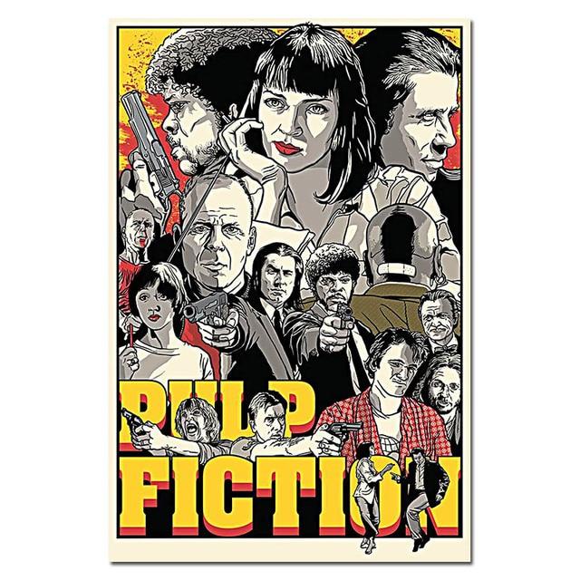 Kill Bill Pulp Fiction Reservoir Dogs Movie Art Silk Fabric Poster