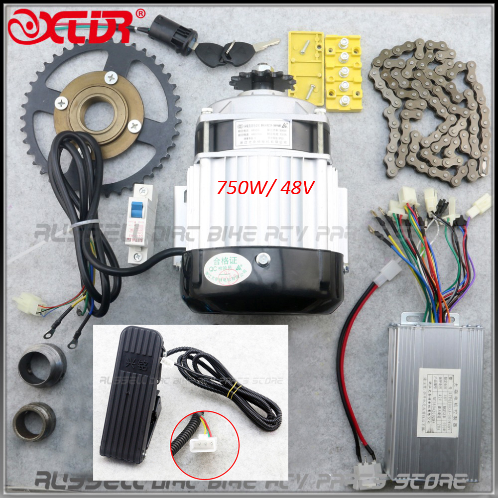 BM1418ZXF 48V 750W Brushless Motor with Pedals Throttle Electric Bicycle kit tricycle DIY E tricycle E