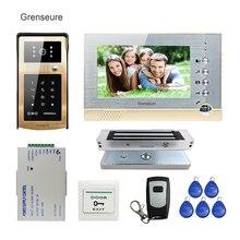 FREE SHIPPING New 7″ Record Video Door Phone Intercom System + Metal Outdoor RFID Keypad Unlock Doorbell Camera 180kg EM Lock
