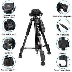 Image 3 - ZOMEI Q222 Camera Tripod Tripode Stative Flexible Photographic Tripod Monopod Travel Stand for Smartphone Camera DSLR Projector
