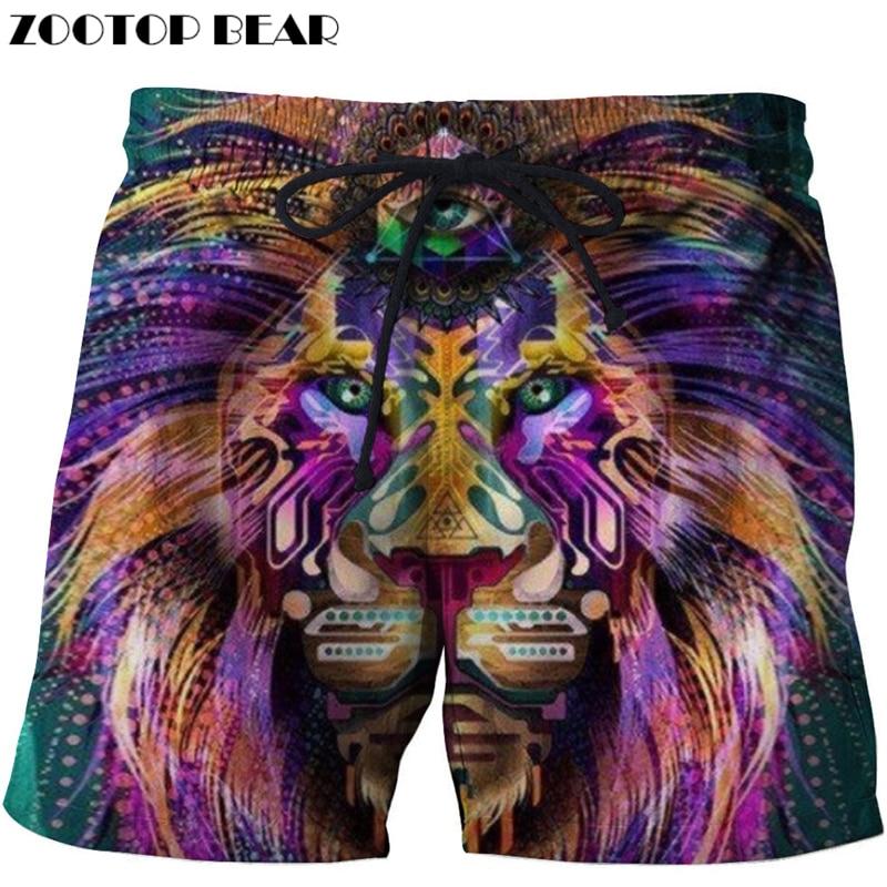 Crazy Anime 3d Printed Beach Shorts Men Casual Board Shorts Plage Quick Dry Shorts Swimwear Streetwear 8xl Dropship Zootop Bear Board Shorts