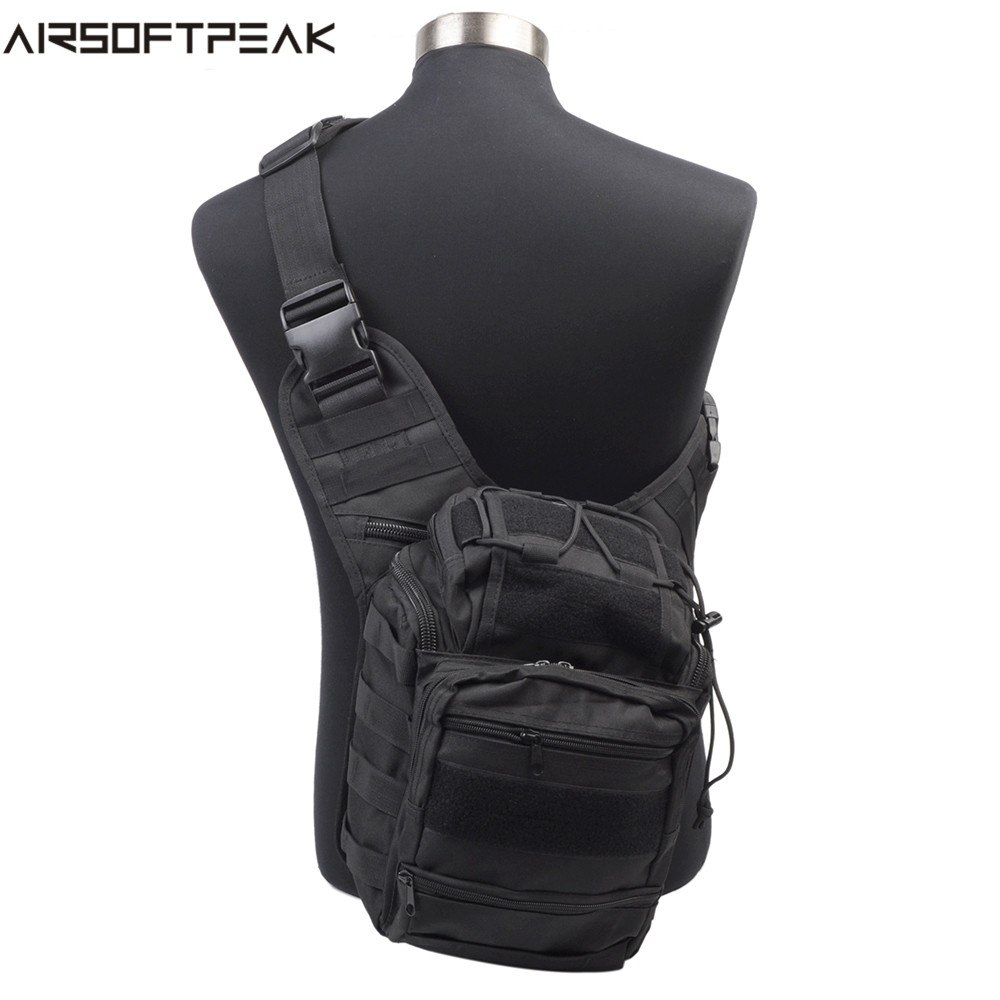 Airsoftpeak открытый Для мужчин Охота рюкзак Сумки на плечо Airsoft спортивные тактический 600D нейлон сумка Открытый Спорт пакет