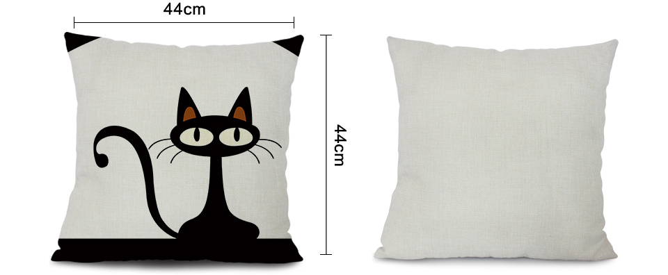 Cotton Cat Cushion Cover