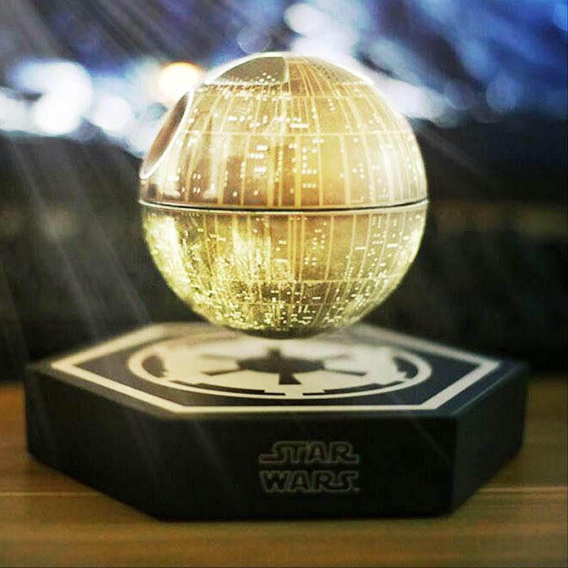 Prix pour Vente! Star Wars STARWARS death star maglev bluetooth sans fil stéréo rotation 360 degrés Maglev Bluetooth haut-parleurs