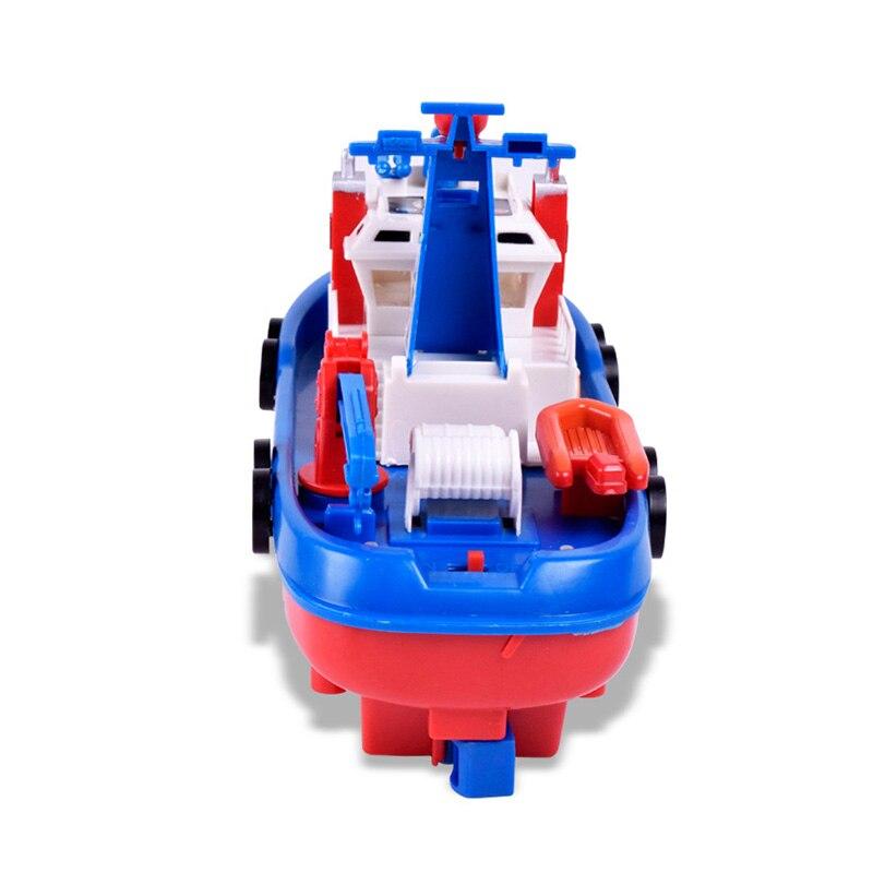 Bambini giocattolo elettrico fuoco barca musica barca elettrica fiamma ossidrica - 3
