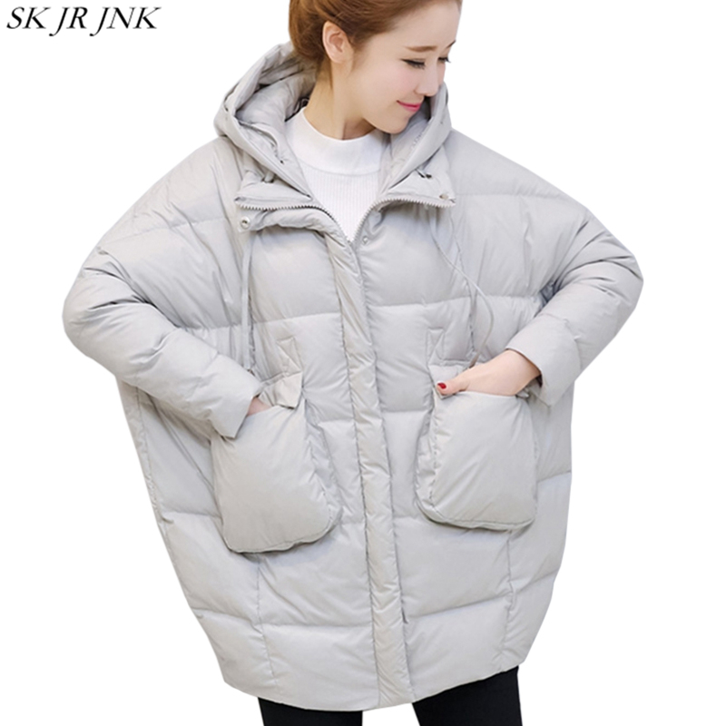 Oversize Loose Warm Hooded Parka 2017 Winter Fashion Plus Size Thicken Cocoon Padded Jacket Casual Women Print Wadded Coat HCY82 winter jacket men warm coat mens casual hooded cotton jackets brand new handsome outwear padded parka plus size xxxl y1105 142f
