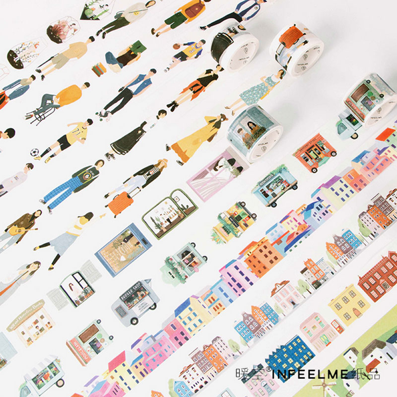 City series 1.5 cm and 3 cm washi tape children like diy Diary decoration masking tape stationery scrapbooking tools approximation processes involving jacobi series and wavelets