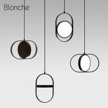Nordic Modern Led Pendant Lights Black Industrial Kitchen Hanging Light Fixtures for Dining Room Bedroom Loft Decor Pendant Lamp недорого