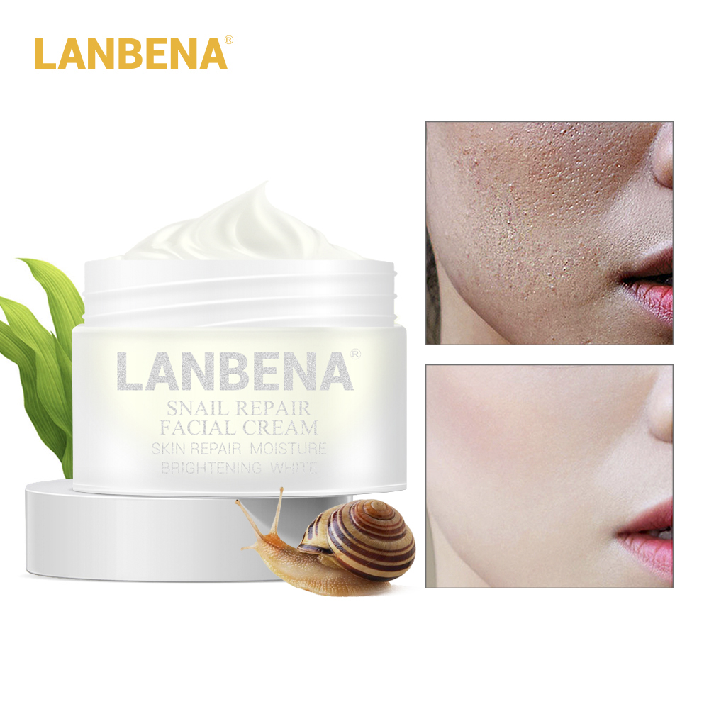 LANBENA 30g Anti Aging Anti Wrinkle Facial Cream Acne Treatment Snail Repair Whitening Lifting Firming Day Cream Skin Care