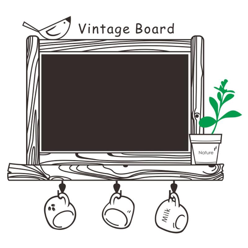 Vintage Chalkboard Blackboard Sticker Kids Room Removable Drawing Picture Wall Poster Black Board Decals Office School Supplies