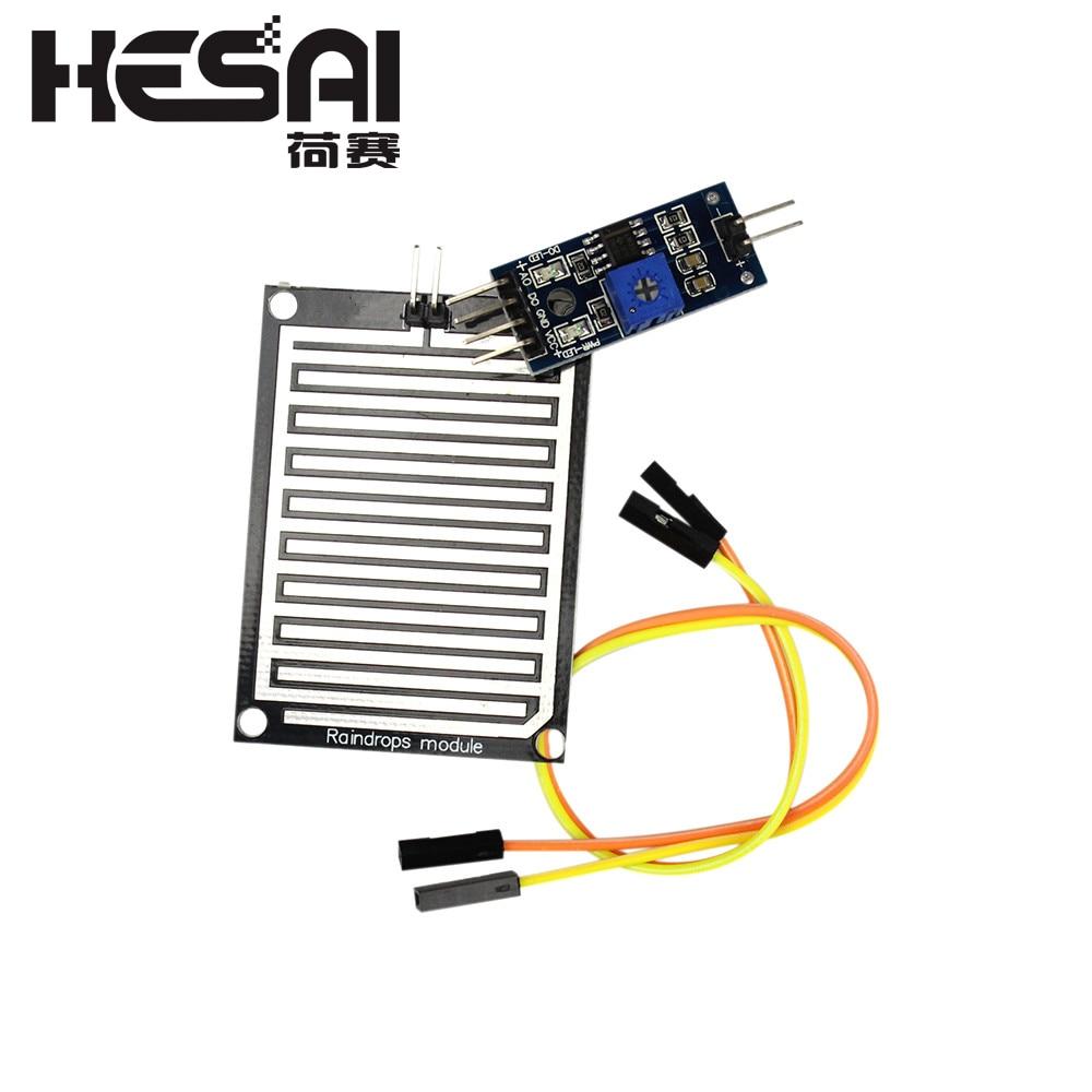 3.3-5V Rain Raindrops Sensitive Detection Sensor Module Weather Humidity For Arduino Diy Kit