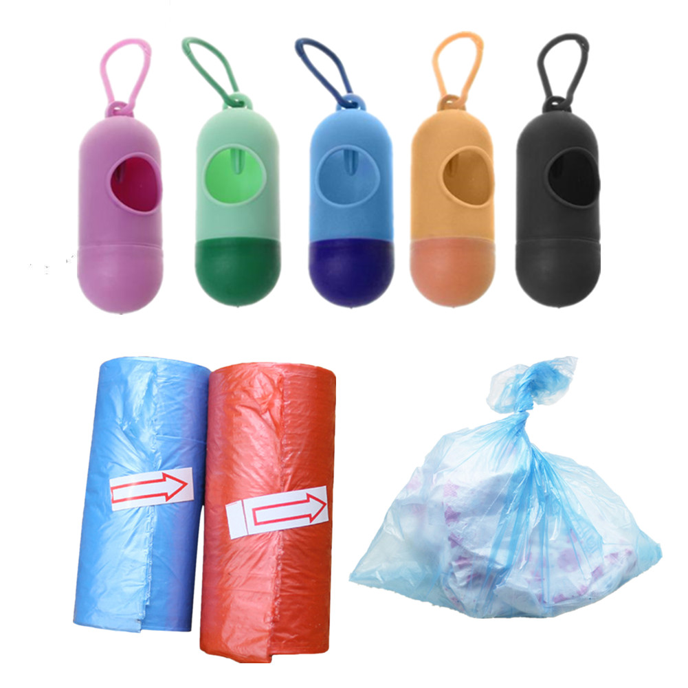 1/2/4pcs New Plastic Small Portable Baby Diapers Bags Rubbish Bags Garbage Bag Removable Box Nappy Bag