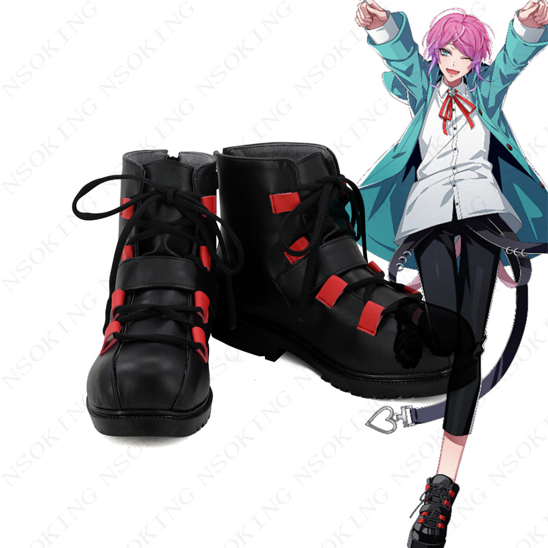 New Division Rap Battle Amemura Ramuda Hypnosis Mic Cosplay Boots Anime Shoes Custom Made