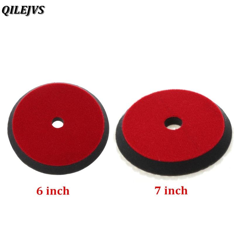 QILEJVS 6/7 inch 150mm Car Auto Soft Wool Buffing Polishing Pad Professional Detailing Mixed Color