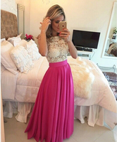 2018 New Saudi Arabia Floor Length Fuchsia prom Glamorous party gown vestido de festa Off The Shoulder bridesmaid dresses