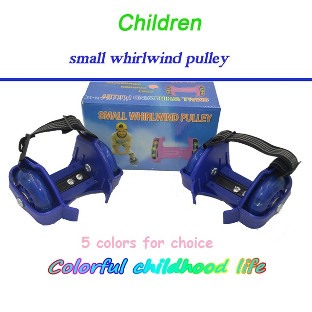 Small whirlwind pulley Children Flashing Wheel pulley kids Skate Shoes Sport Roller Shoes Kids 4 Wheels adult Flashing shoes