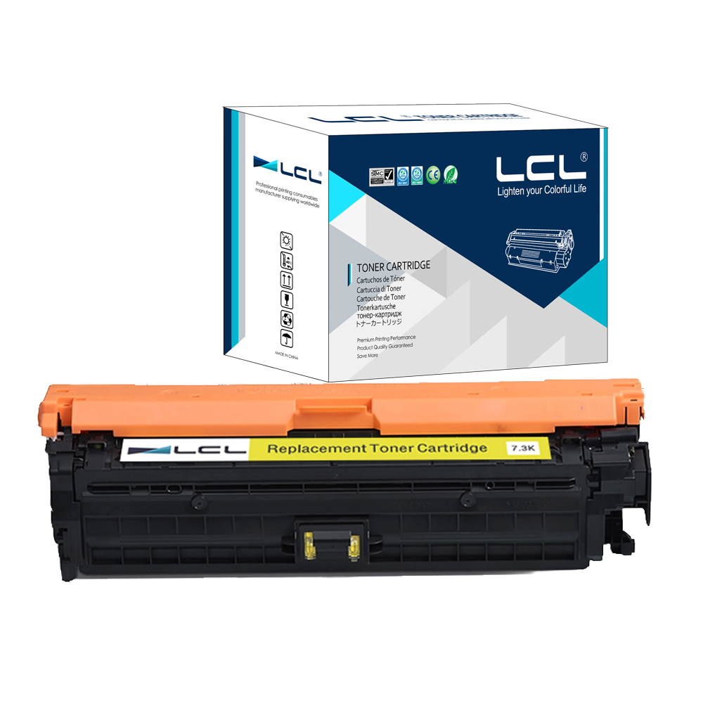 LCL CE742A 307A CE 742 A 307 A (1-Pack) Compatible Laser Toner Cartridge for HP Color Laserjet CP5225/5225n/5225dn