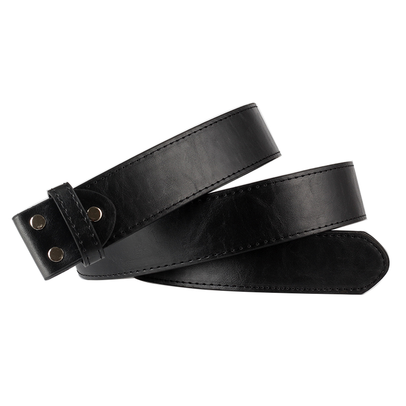 DIY Belt Body Leather Smooth Buckle Belts Body PU Balck Leather Belt Without Buckle Replace Leather Belt Body Only