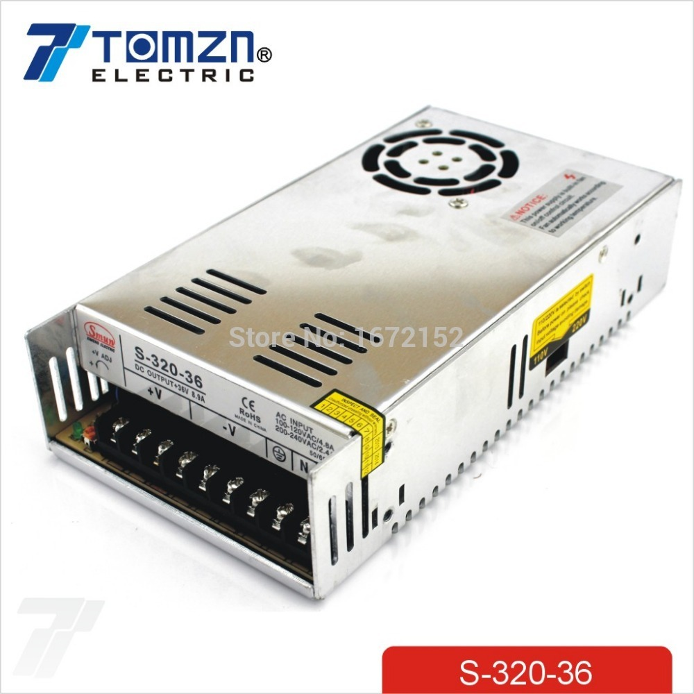 320W 36V 8.9A Single Output Switching power supply for LED Strip light AC to DC 110V 200V selected by switch 600w 36v 16 6a 110v input single output switching power supply for led strip light ac to dc