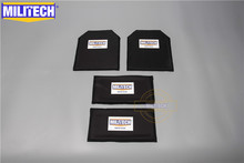 MILITECH 10 x 12 6 x 12 Pairs Aramid Ballistic Panel Bullet Proof Plate Inserts Soft