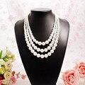 Женское многослойное ожерелье JIOFREE  модное жемчужное ожерелье с искусственным жемчугом на свадьбу  день рождения  вечеринку