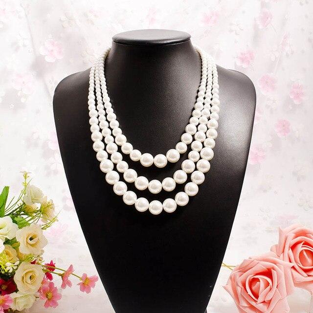 JIOFREE новый дизайн многослойное ожерелье из искусственного жемчуга популярное женское жемчужное ожерелье Свадебные украшения для дня рожде...