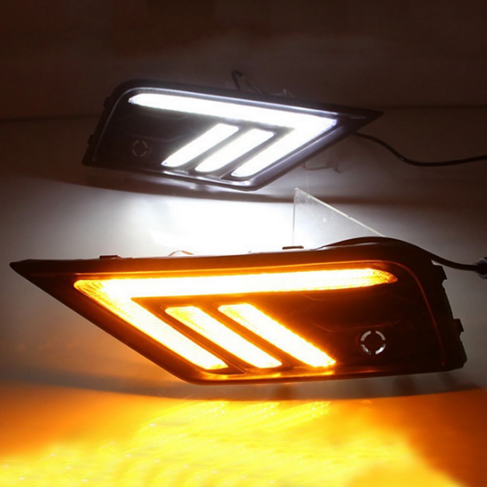 Image 2 - 2*LED Daytime Running Lights Front Light External Lights For Volkswagen Tiguan L Auto Waterproof Car Styling Front Light-in Car Light Assembly from Automobiles & Motorcycles