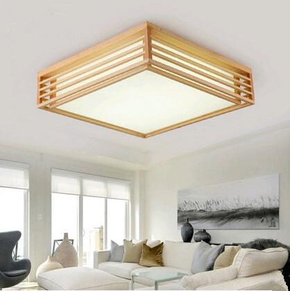 Modernen minimalistischen kunst quadrat holz Deckenleuchten Einfache ...