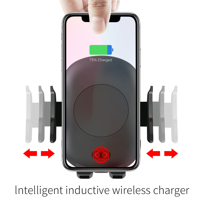 Image 4 - 10W Qi Wireless Charger Car Phone Holder for iPhone 8 X XR XS Infrared Fast Wireless Charging Car Charger for Samsung S9 S8 S10-in Mobile Phone Chargers from Cellphones & Telecommunications