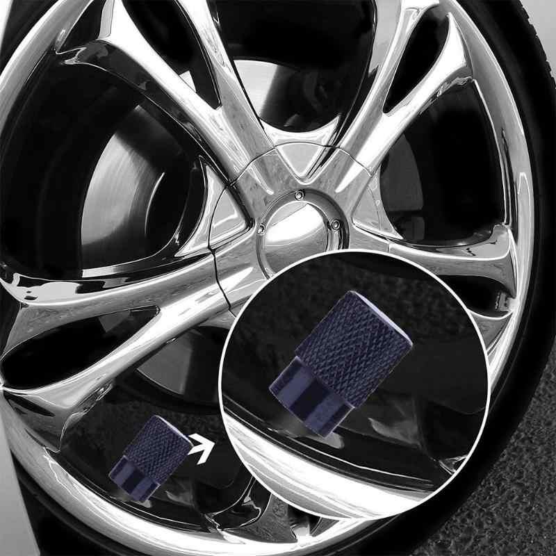 4 adet alüminyum alaşım otomatik bisiklet lastiği vana kapakları için toz kapakları Schrader vana araba aksesuarları vana kaynaklanıyor ve kapaklar