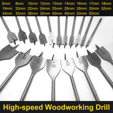 6-55mm Flat Drill Long High-carbon Steel Wood Set Woodworking Spade Bits Durable Tool Sets
