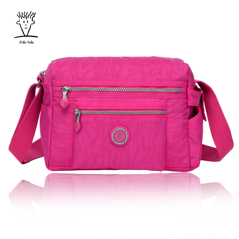 Fido Dido New Women MessengNew Women Messenger Bags for Women Waterproof Nylon Handbag Female Shoulder Bag Ladies Crossbody Bag! fido