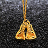 Brand New Titanium Steel 18K Gold Fashion Double Mini Boxing Glove Necklace Boxing Match Jewelry Cool