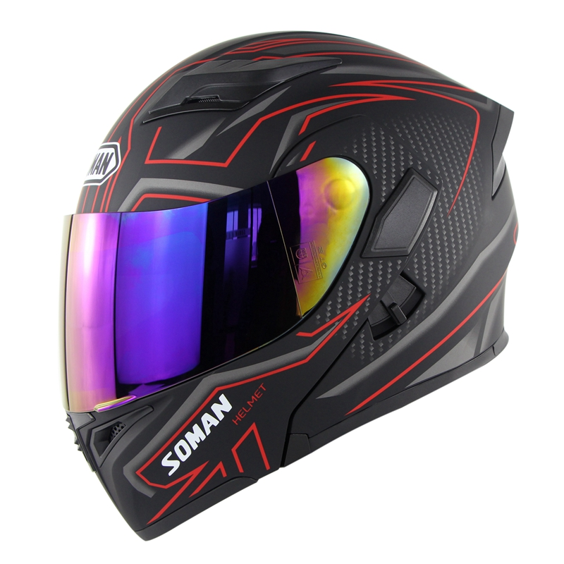Double Lens Motorcycle Helmet Flip up Mudual With Replaceable Visors Casque Dual Use Moto Bike Helmets Soman Brand 955 Double Lens Motorcycle Helmet Flip up Mudual With Replaceable Visors Casque Dual Use Moto Bike Helmets Soman Brand 955