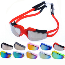 Colorful Professional Electroplate Waterproof Anti Fog UV Protection Swim Pool Soft Silicone Swimming Goggles Glasses Eyewear