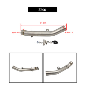 Image 3 - Alconstar  Motorcycle Exhaust Muffler Middle Pipe Link Pipe Slip on For Kawasaki Z750 Z800 Z1000 ZX6R ZX 6R ZX10R ZX 10R Racing