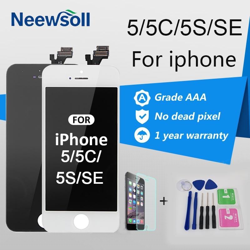 Neewsoll AAA Qualität Lcd-bildschirm Für iPhone 5 5 S 5C SE LCD Touch Screen Für Iphone 5 Bildschirm Digitizer