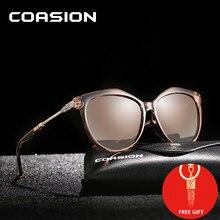 COASION Brand Design Cat Eye Polarized Sunglasses Women Retro Lady Driving Shades Sun Glasses 2019 lunette soleil femme CA1034