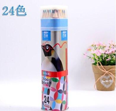 24 Set crayon de couleur professionnel couleur plomb peint à la main crayon baril enfants couleurs étudiant papeterie