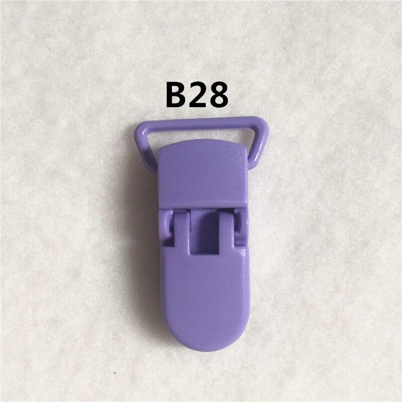 20 цветов) DHL 200 шт. 20 мм КАМ Пластик маленьких Соски NUK MAM пустышка Chain Зажимы чулок Зажимы - Цвет: B28
