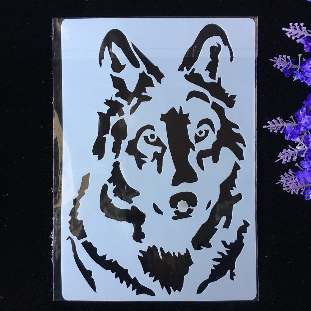 New Wolf DIY Layering Stencils Painting Scrapbook Coloring Embossing Album Decorative Paper Card Template