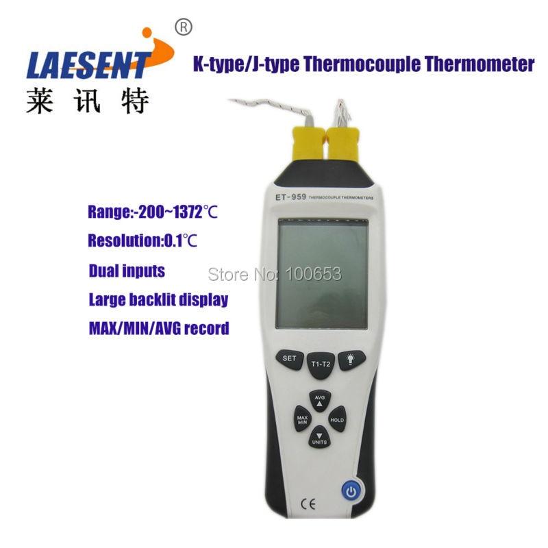 ФОТО K-Type/J-Type Thermocouple Thermometers Dual Channel digital Thermometers +Thermocouple Probe